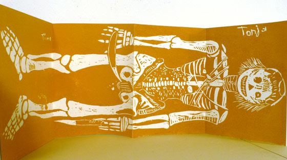 Detailansicht Skelett
