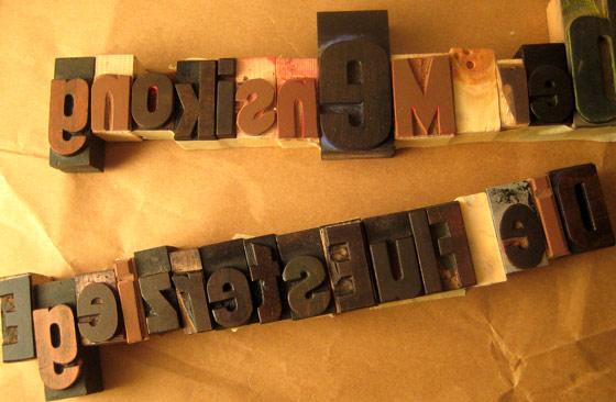 typografische lettern